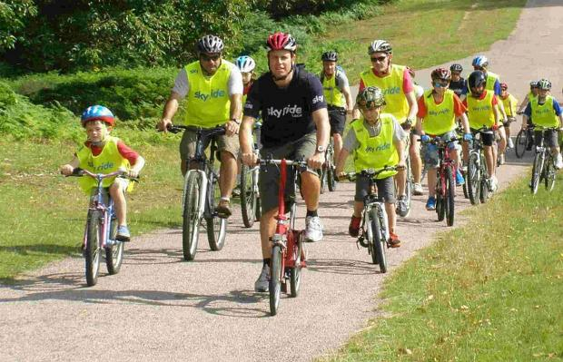 ON YA BIKES:  Cyclists are being encouraged to train as Sky Ride leaders and inspire more people to get on their bikes