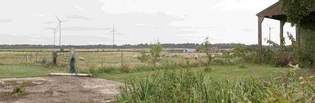 Bournemouth Echo: GONE WITH THE WIND: A photo montage of proposed wind farm at Master's Quarry