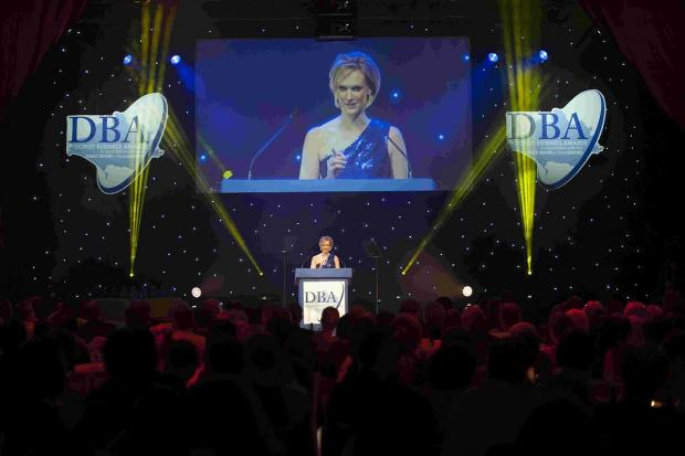 PRIZES: Laura Trant hosts the 2013 Dorset Business Awards