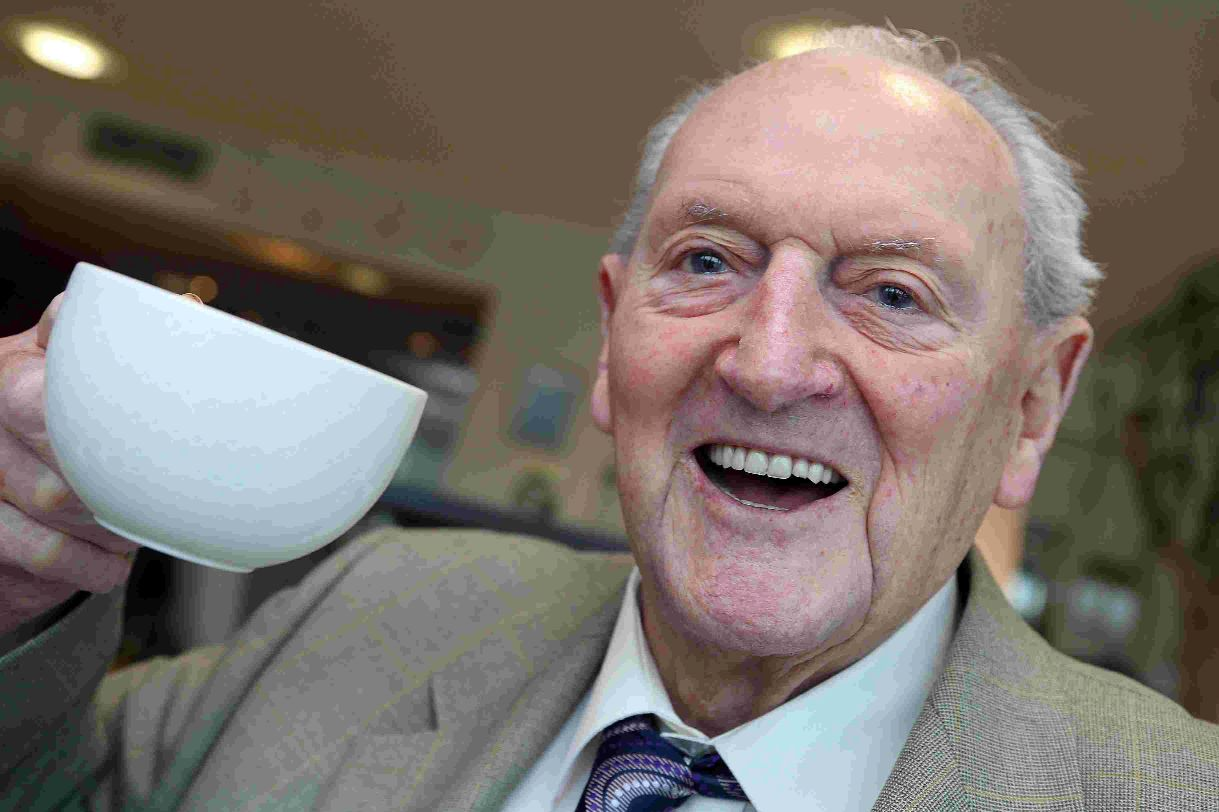 BIRTHDAY: Horace D'Arcy celebrates his 103rd birthday at the Captain's Club in Christchurch