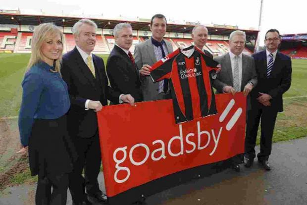 SPONSOR: Staff from AFC Bournemouth and Goadsby celebrate their new partnership