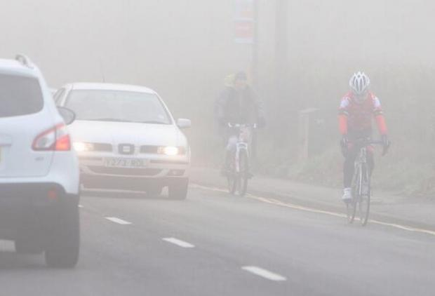 Road users urged to take extra care in foggy conditions