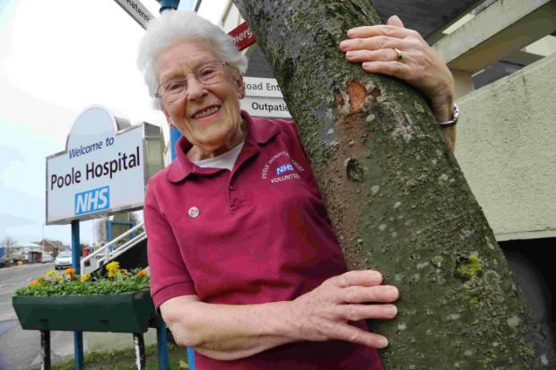 EXTREME CHALLENGE: Poole Hospital volunteer Margaret Fouracre