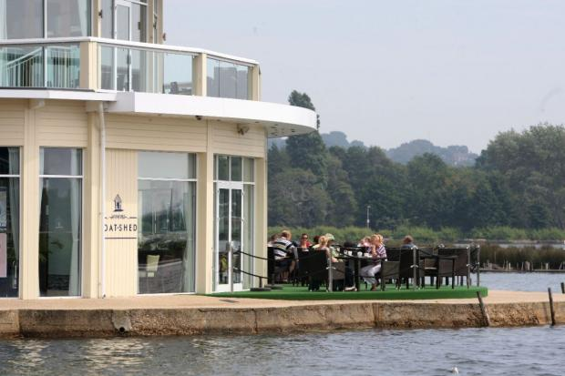 DECKED OUT: The Sevens Boatshed restaurant in Poole Park owned by Eddie Mitchell