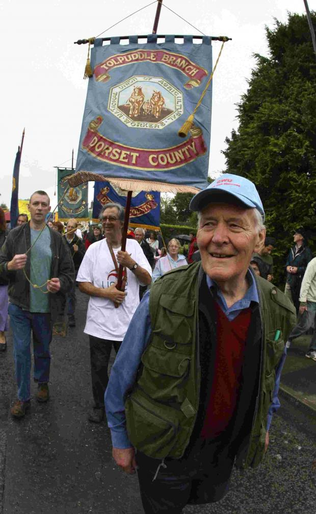 Bournemouth Echo: Tony Benn at the Tolpuddle Martyrs Festival in 2007