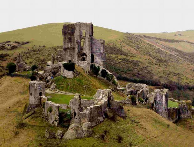 Bournemouth Echo: HERITAGE:  Corfe Castle near Wareham is just one of many areas of outstanding beauty in Dorset