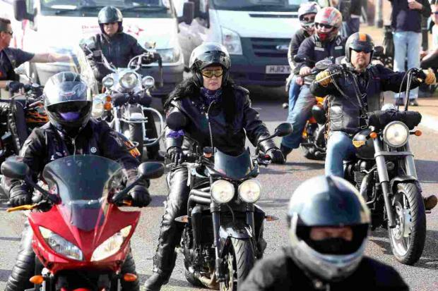 Bikers join funeral procession as final wish for popular motorcyclist Donna 'Pixie' Holder