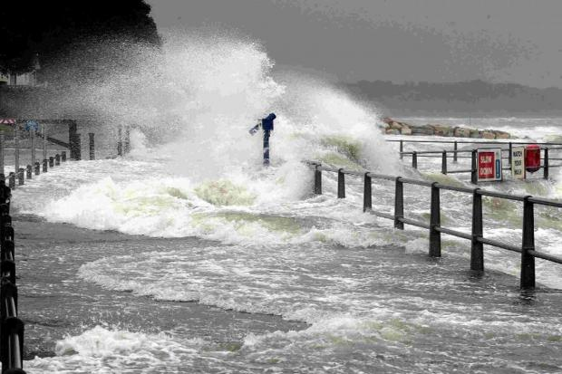 Bournemouth Echo: WILD STORMS: High seas and strong winds batter Mudeford Quay and hundreds of thousands of you visited our websites to get the latest weather stories