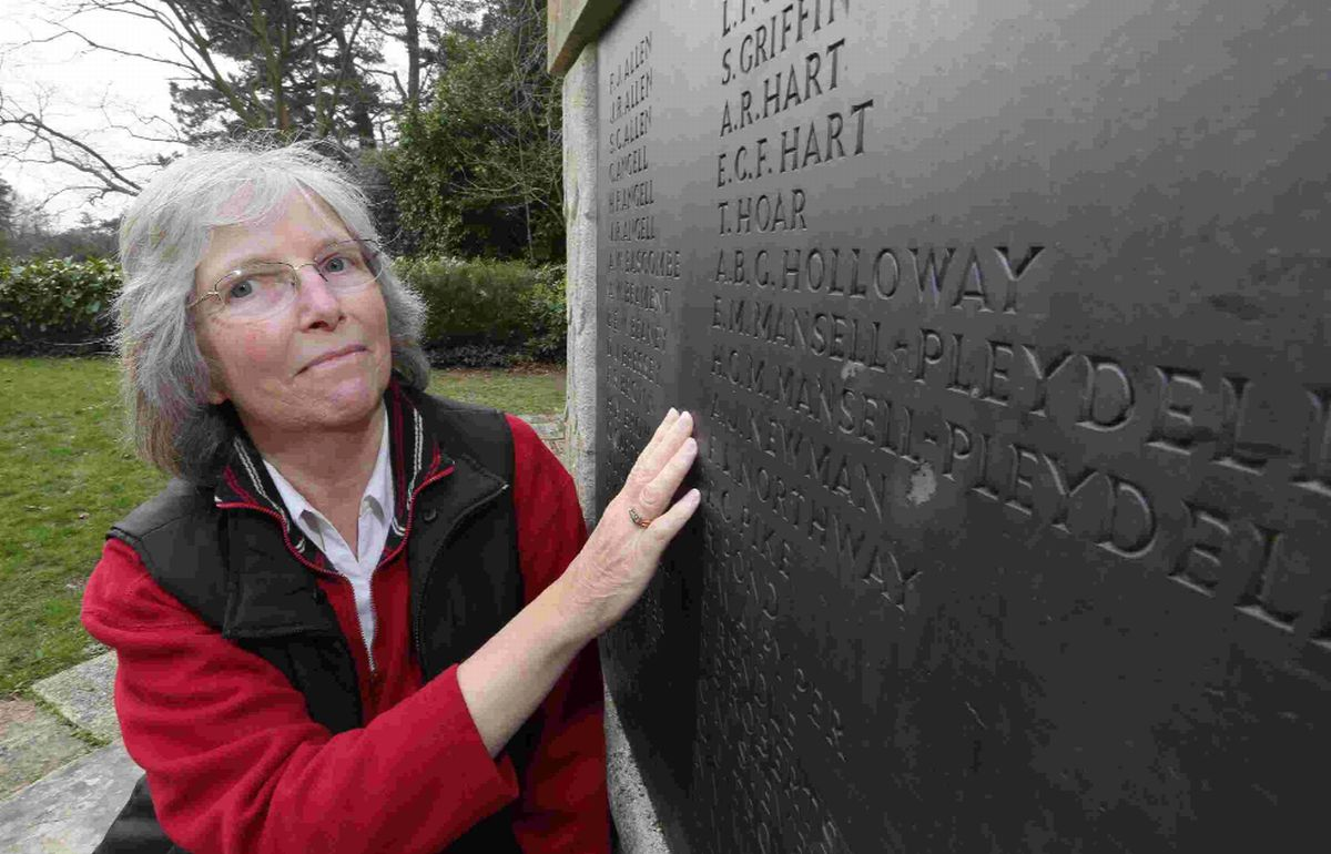 COMMITTED: Jill Floyd has worked tirelessly to put details of the fallen from Broadstone's war memorials online