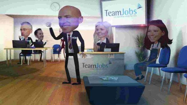 ANIMATED: How staff appear in the TeamJobs film