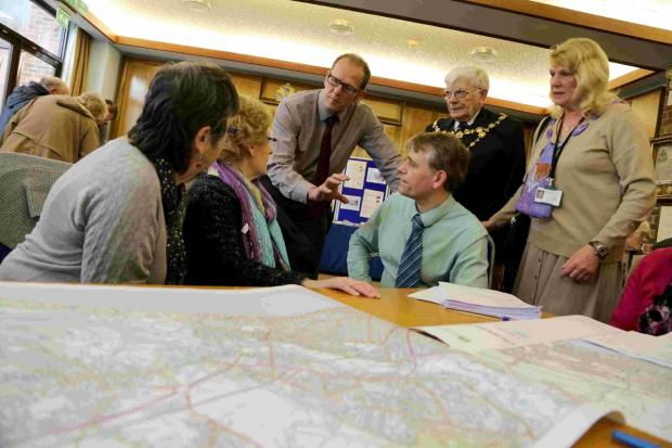 USEFUL: Residents of Christchurch receive flood advice at the civic offices