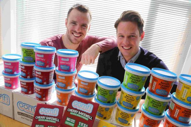 Brothers Robert and Andrew Sweeney have created a weight loss protein porridge called 'Oomf!'