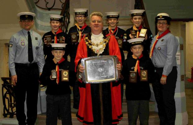 Lilliput Sea Scouts bring home haul of trophies after success at the Royal Navy national championships