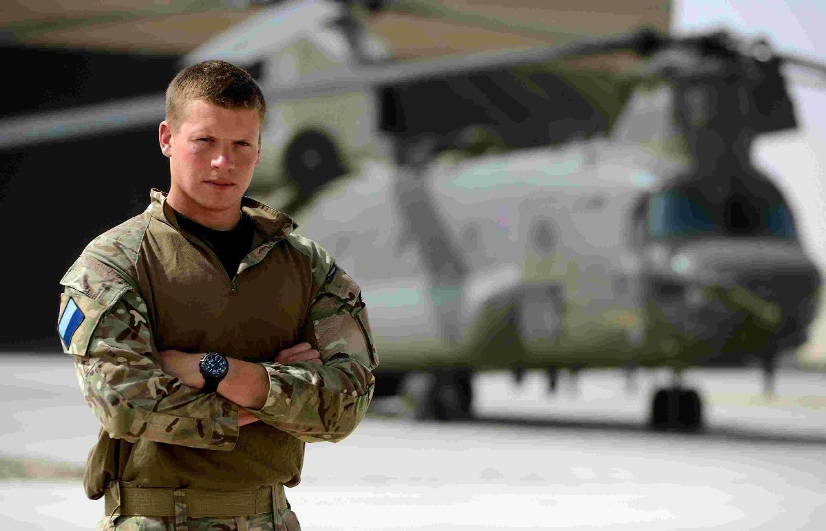 CHALLENGE: Air Trooper Leo Domeisen has been serving in Afghanistan as a reservist