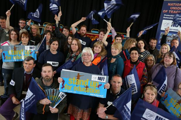 Bournemouth Echo: 100 teachers take part in Wimborne rally on day of national strike action