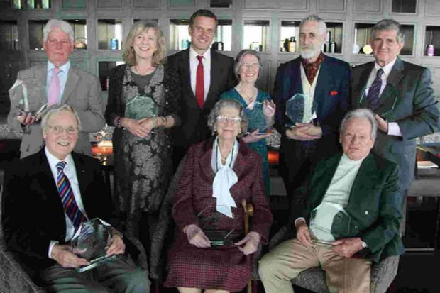 LOCAL HERO: Ted Taylor with others at the awards ceremony
