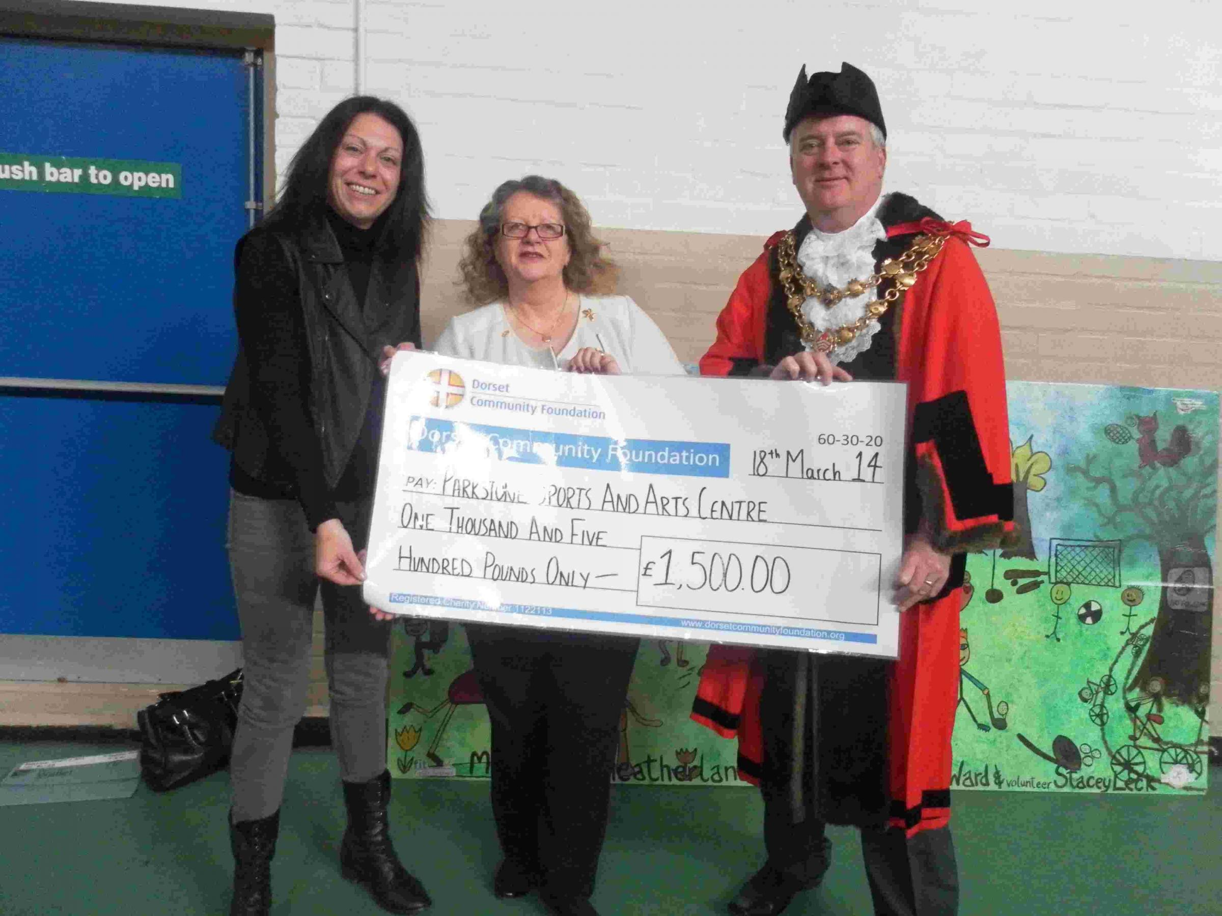 £1,500 boost for Parkstone Sports and Arts Centre