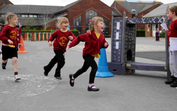 MARATHON: Year one pupils at Christchurch Infant School