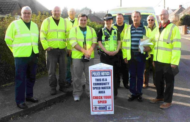 ON THE LOOKOUT: Speedwatch members
