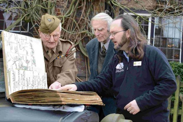 SECRETS REVEALED: Lt Col Sir Morgan Crofton's scrapbook is examined