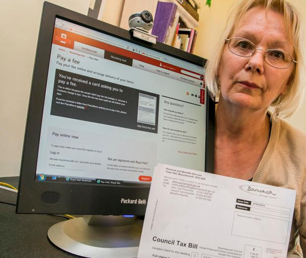 Jacqueline Selcoe, who has been charged a fee by Royal Mail to retrieve her own Council Tax Bill