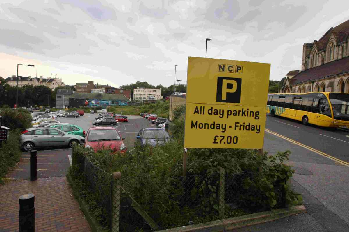 THE SITE: NCP's Exeter Road car park
