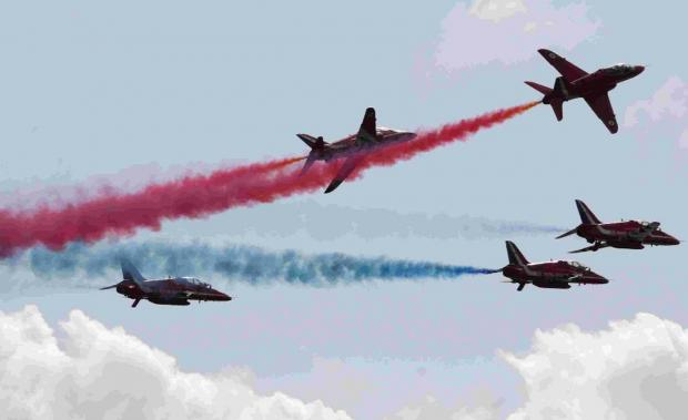 FLYING HIGH: The Red Arrows in action