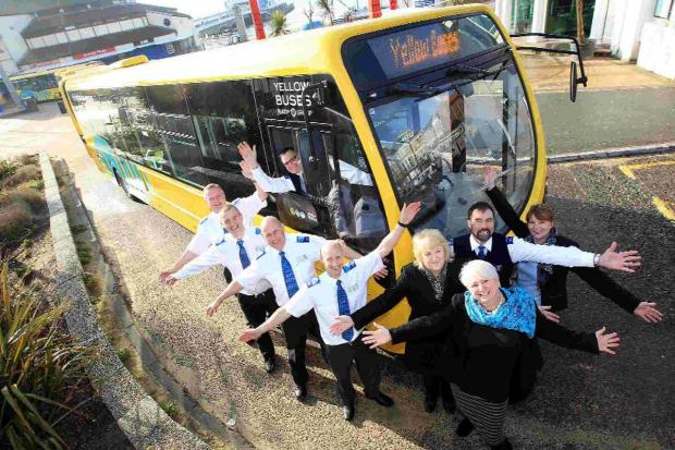 SHINY: Yellow Buses has taken delivery of 10 new buses worth around £1m