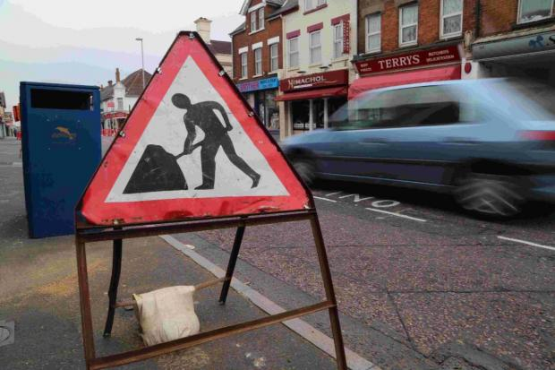 DELAYS: Roadworks continue on Ashley Road in Poole