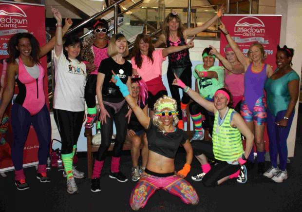 WITNESS THE FITNESS: The Littledown Centre celebrates its 25th anniversary with an 80s themed class