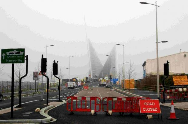 RUMBLE: The Twin Sails Bridge closed for works