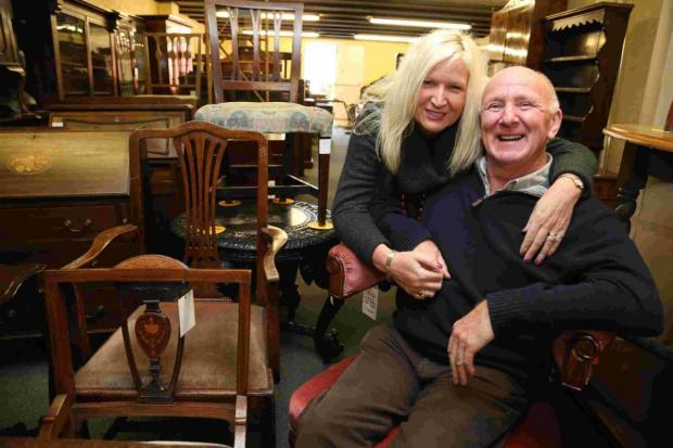 44 YEARS: Mike and Michelle Sandy who are closing their business Sandy's Antiques