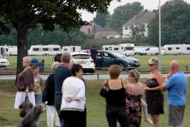 PROTECTION: Travellers moving onto Branksome Recreation ground
