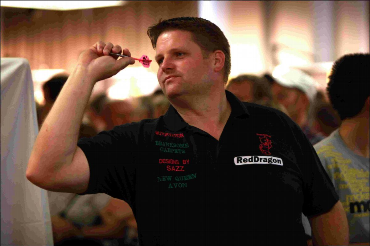 FORTY WINKS: Dorset darts star Scott Mitchell