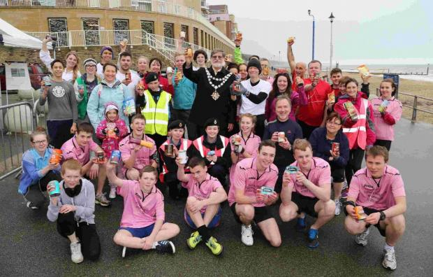 Bournemouth Echo: Fun runners on Boscombe  seafront