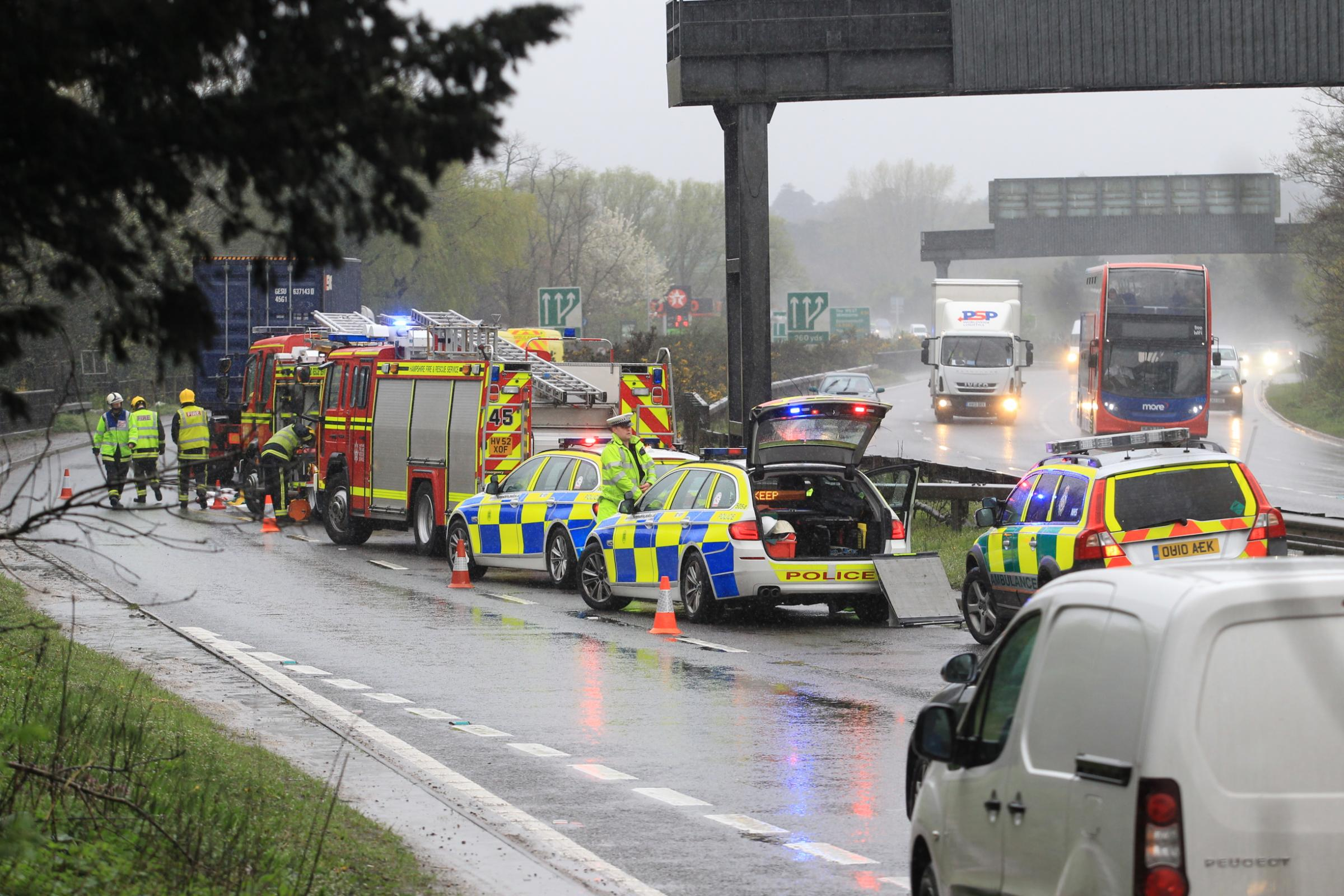 VIDEO: Severe delays after crash between lorry and van on A31 near Ringwood
