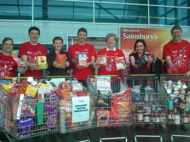 Generous shoppers donate food for struggling families at Castlepoint shopping centre