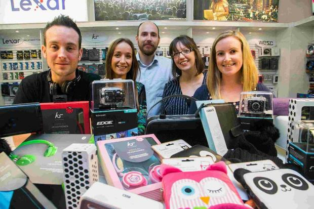 Bournemouth Echo: GADGETS GALORE: Justin Christie, of Kondor, with sta
