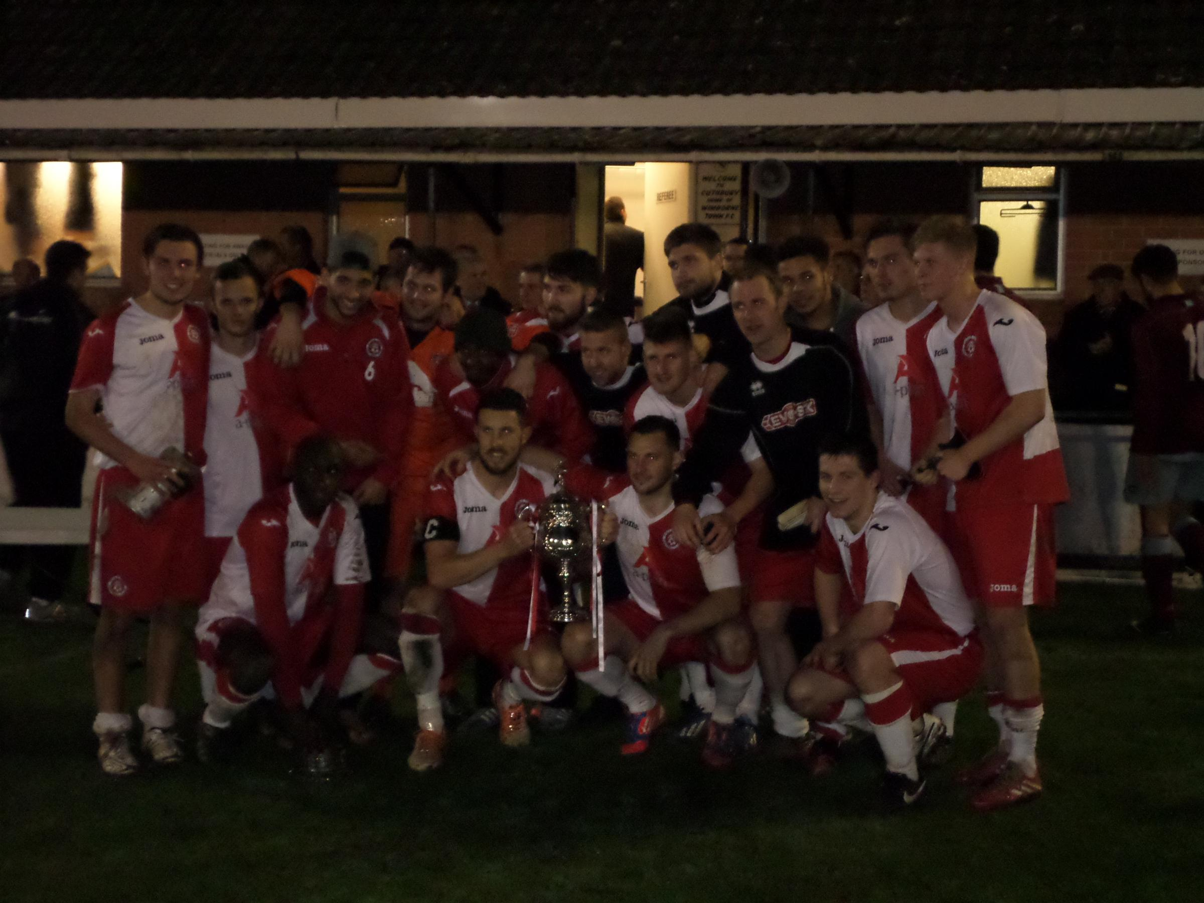 WINNERS: Poole Town with the Dorset Senior Cup