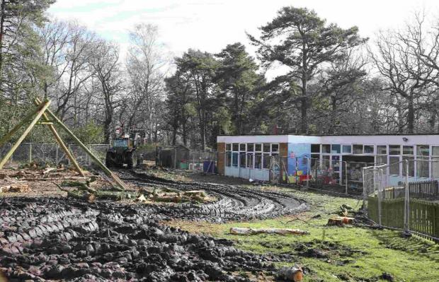 Building work has started on the new Montacute school in the grounds of the old school