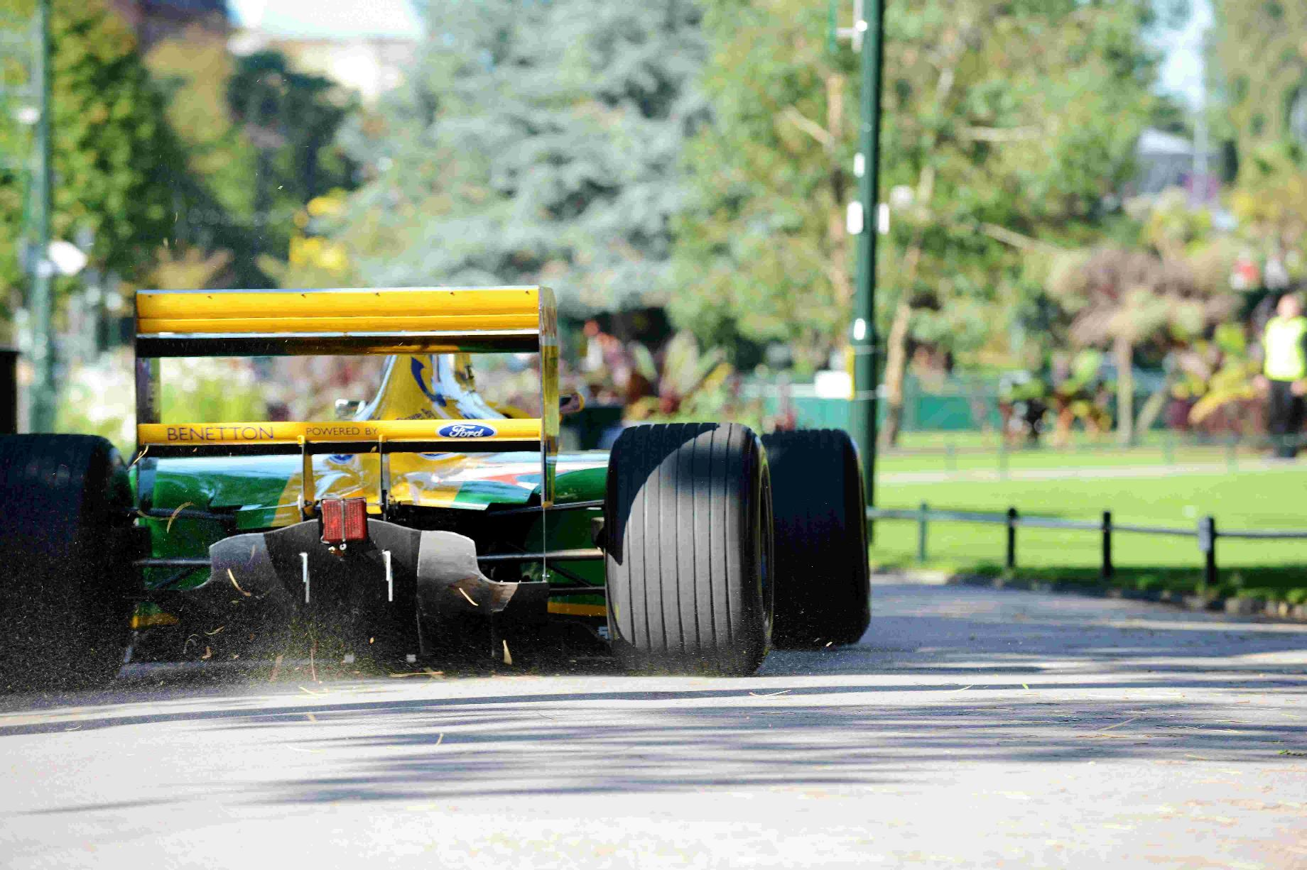 HIGH OCTANE: The  1992 Benetton Formula One car, driven by racing legend Michael Schumacher