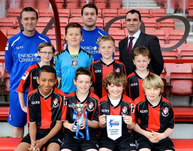 Bournemouth Echo: HOLDING COURT: St James' boys team in their Cherries kit