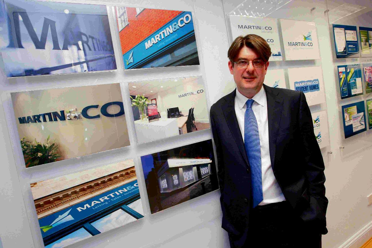 Martin & Co MD Ian Wilson at the company head office in Bournemouth
