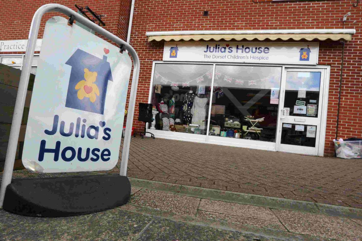GOODBYE: The Julia's House shop in Ferndown which is to close this year and inset, Martin Edwards