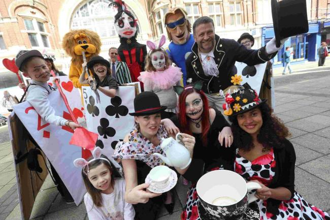 Queen of hearts and cheshire cat to entertain crowds in boscombe members of the creative kids group boscombe traders and volunteers gather to launch the easter negle Image collections
