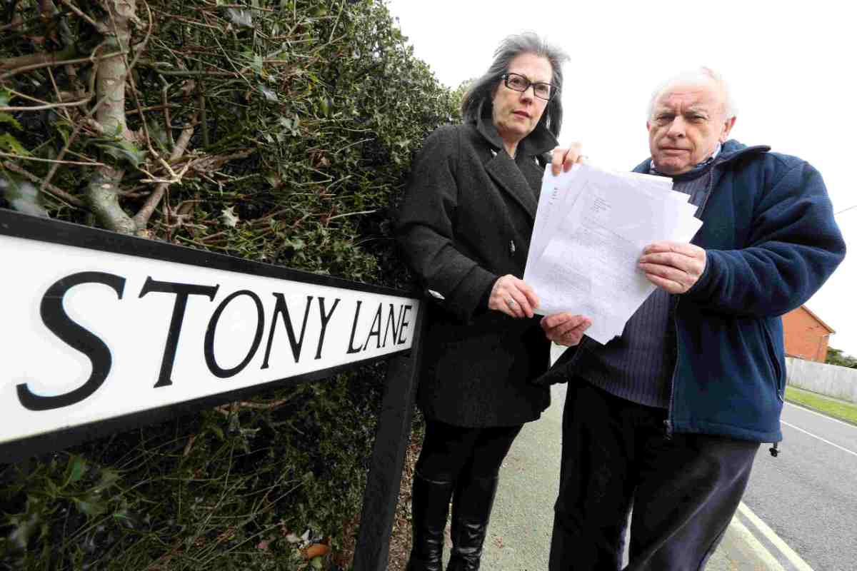 SUPPORT:  Campaigners Helen Gwinnett and Alan Slater with their  petition