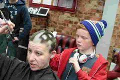CAUSE: Barber Tina Desmond chopped off her own locks to raise money for charity