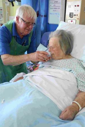 HELPING HAND: Royal Bournemouth Hospital volunteer Terry Aldridge, 72