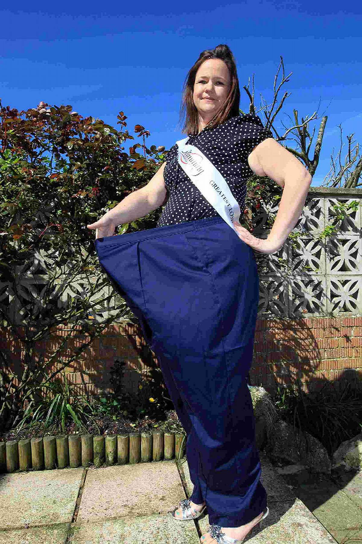 TRANSFORMED: Emma Hann after her inspirational weight loss