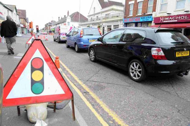 IMPROVEMENTS: Roadworks continue on Ashley Road in Poole